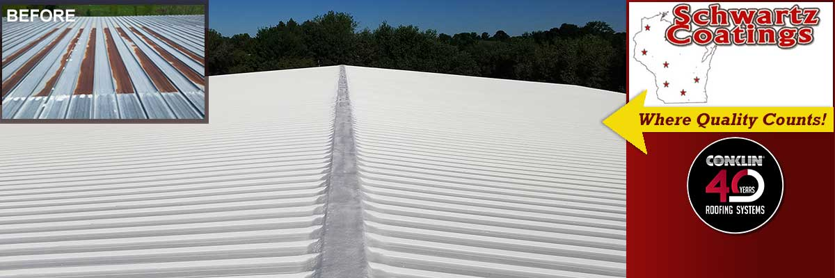 Commercial Metal Roof Restoration for Wisconsin - Schwartz Coatings